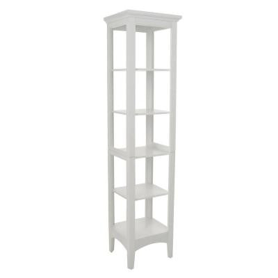 Wilshire 15 in. W Linen Tower in White