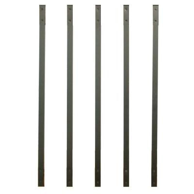 32-1/4 in. x 1 in. Bronze Aluminum Face Mount Deck Railing Baluster (5-Pack)