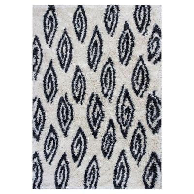 Trellis Shag Ivory 7 ft. 10 in. x 10 ft. 6 in. Area Rug