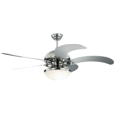 Centrifica 52 in. Brushed Steel Silver Ceiling Fan