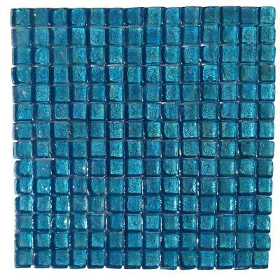 Latin Beryl Square 11-3/4 in. x 12 in. x 8 mm Meshless Glass Mosaic Tile