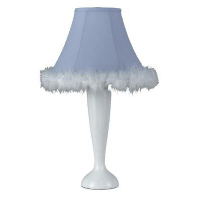 Cooper 21 in. White Feather Boa Incandescent Novelty Lamp