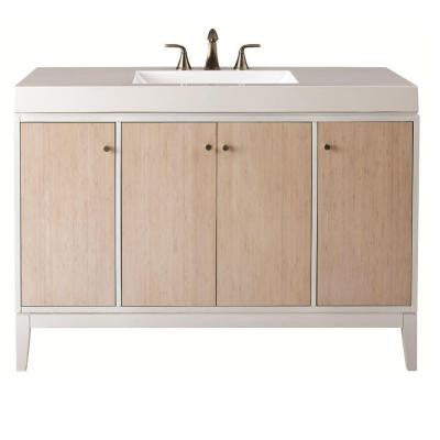 Melbourne 49 in. W x 35 in. H Vanity in White with Marble Vanity Top in White