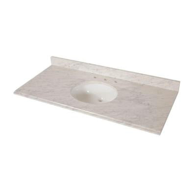49 in. x 22 in. Stone Effects Vanity Top in Cascade
