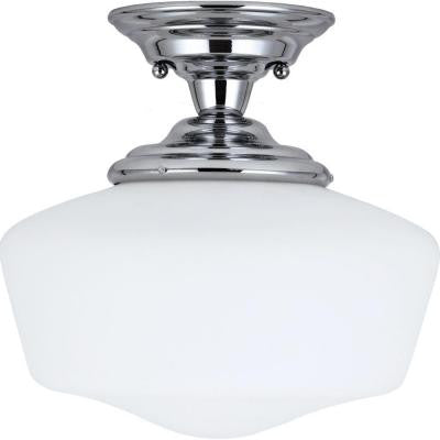 Academy 1-Light Chrome Semi-Flush Mount Light