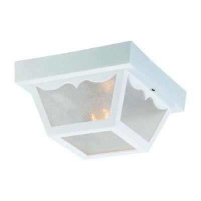 Durex Collection Ceiling Mount 1-Light Outdoor White Light Fixture