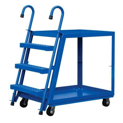 28 in. x 40 in. 1,000 lb. Steel 2 Shelf Stock Picker Truck