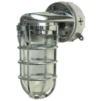 100-Watt Chrome Incandescent Industrial Wall Work Light