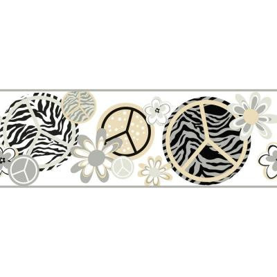 9 in. Cool Kids Peace/Zebra Border