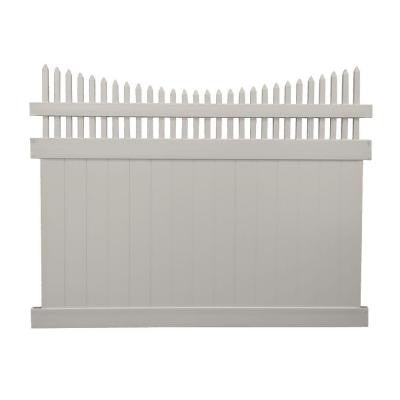 Harrington 6 ft. x 8 ft. Tan Vinyl Privacy Fence Panel