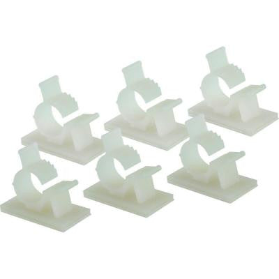 Small Adjustable Cable Clamp - White (6-Pack)