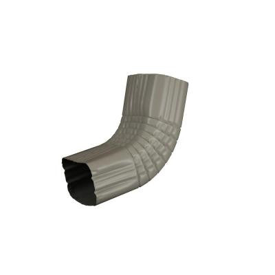 3 in. x 4 in. Pearl Gray Aluminum Downspout A Elbow