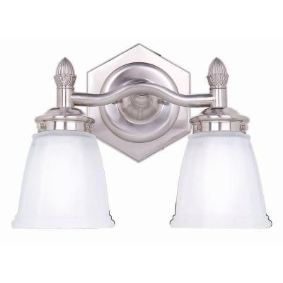 2-Light Brushed Nickel Bath Light