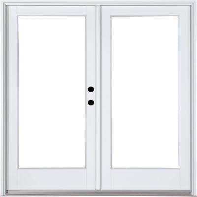 59-1/4 in. x 79-1/2 in. Composite White Left-Hand Inswing Hinged Patio Door