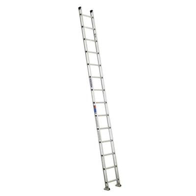 14 ft. Aluminum D-Rung Straight Ladder with 300 lb. Load Capacity Type IA Duty Rating
