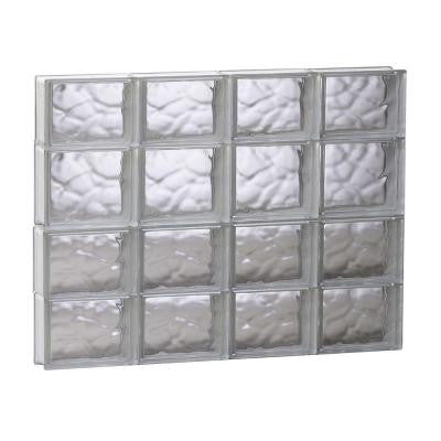 31 in. x 25 in. x 3.125 in. Non-Vented Wave Pattern Glass Block Window