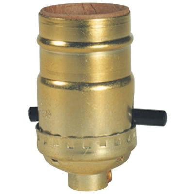 2-1/2 in. Brass Push-Through Socket with Set Screw