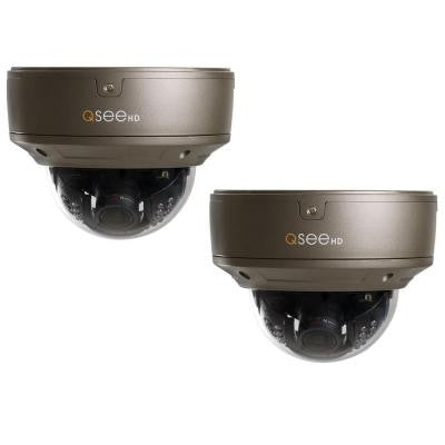 Wired 1080p Indoor/Outdoor IP Dome Camera with Varifocal Lens and 100 ft. Night Vision (2-Pack)