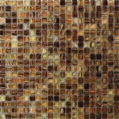 Breeze Organic Honey 12-3/4 in. x 12-3/4 in. x 6 mm Glass Mosaic Tile