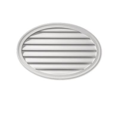 37 in. x 24-1/2 in. x 1-5/8 in. Polyurethane Functional Oval Horizontal Louver Gable Vent