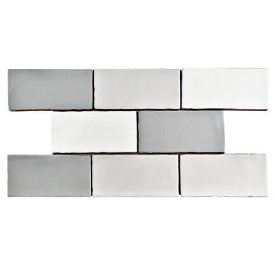 Antic Craquelle Gris Mix 3 in. x 6 in. Ceramic Wall Tile (4 sq. ft. / pack)