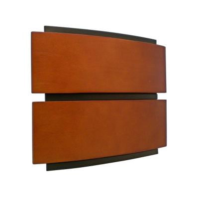 Designer Series Wireless/Wired Door Chime with Contemporary Wood Cover