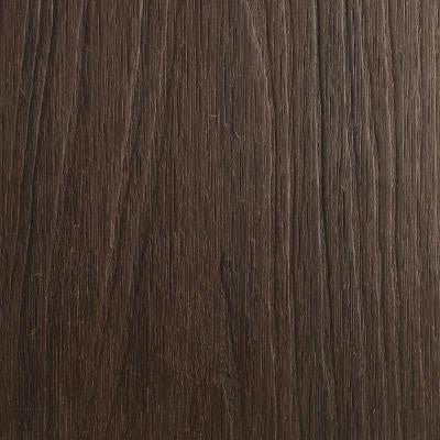 UltraShield Naturale Cortes Series 0.9 in. x 5-1/2 in. x 0.5 ft. Solid Composite Decking Board Sample in Spanish Walnut