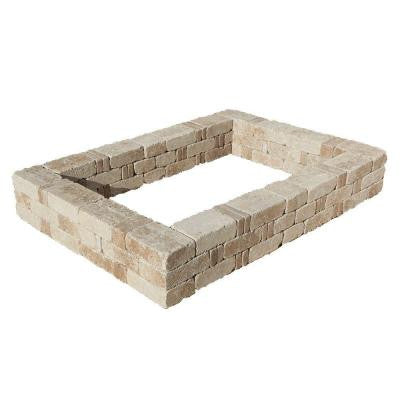 49 in. x 49 in. RumbleStone Small Raised Garden Bed in Greystone
