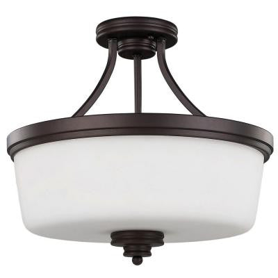 Jackson 3-Light Oil Rubbed Bronze Semi Flush Mount