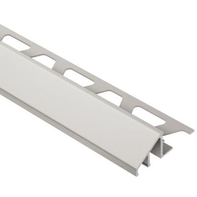 Reno-U Satin Nickel Anodized Aluminum 1/2 in. x 8 ft. 2-1/2 in. Metal Reducer Tile Edging Trim