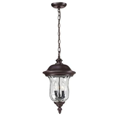 Lawrence 2-Light Outdoor Bronze Incandescent Hanging Pendant