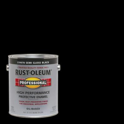 1 gal. Black Semi-Gloss Protective Enamel Interior/Exterior Paint (2-Pack)