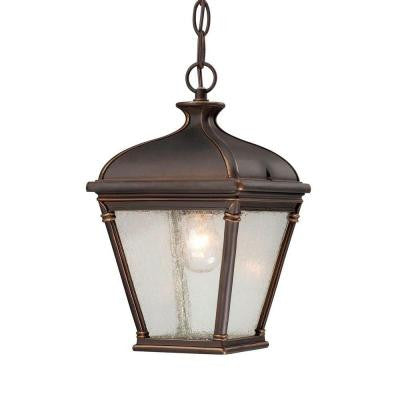 Malford Dark Rubbed Bronze Outdoor Hanging Lantern