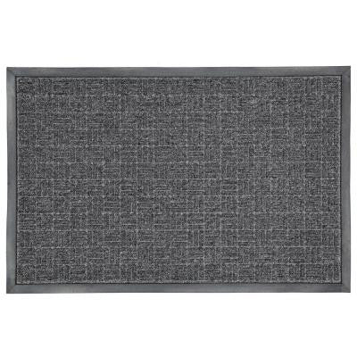 23.5 in. X 35.5 in. Charcoal Rubber Commercial Door Mat