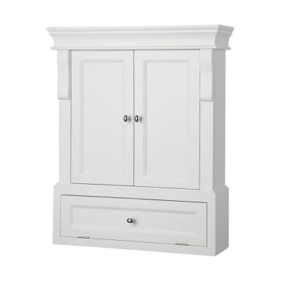 Naples 26-1/2 in. W Wall Cabinet in White