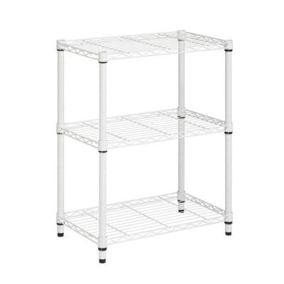 3-Shelf 30 in. H x 24 in. W x 14 in. D Steel Shelving Unit in White