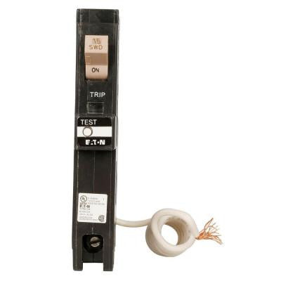 15 Amp 1-Pole CH Ground Fault Circuit Breaker with Self-Test