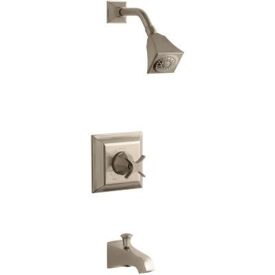 Memoris 1-Handle Pressure-Balancing Tub and Shower Faucet Trim Kit in Vibrant Brushed Bronze (Valve Not Included)