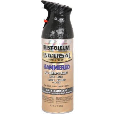 12 oz. All Surface Hammered Black Spray Paint and Primer in One