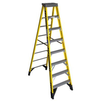 8 ft. Fiberglass Step Ladder with 375 lb. Load Capacity Type IAA Duty Rating