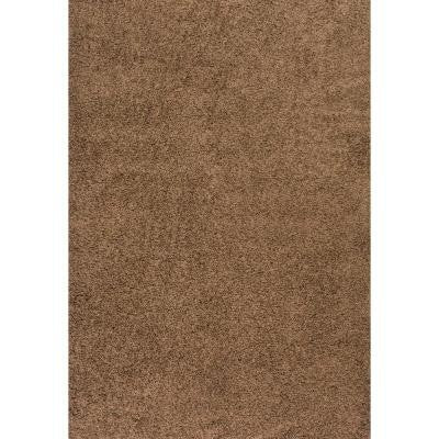 Shag Cocoa 6 ft. 7 in. x 9 ft. Area Rug