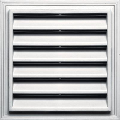 12 in. x 12 in. Square Gable Vent #117 Bright White