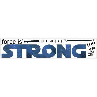 5 in. W x 11.5 in. H Star Wars Classic the Force is Strong 6-Piece Peel and Stick Wall Decal