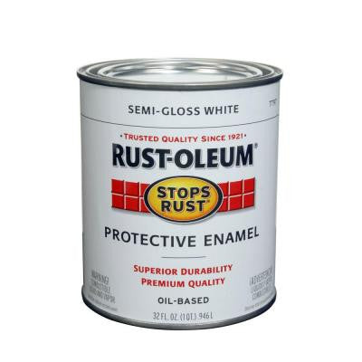 1-qt. White Semi-Gloss Protective Enamel Paint (Case of 2)