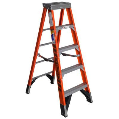 5 ft. Fiberglass Step Ladder with 375 lb. Load Capacity Type IAA Duty Rating