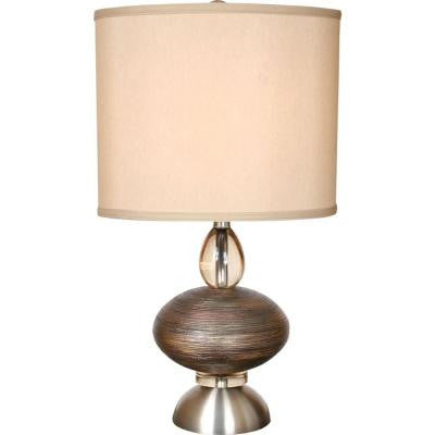 Century 31 in. Brushed Nickel and Cajun Copper Table Lamp