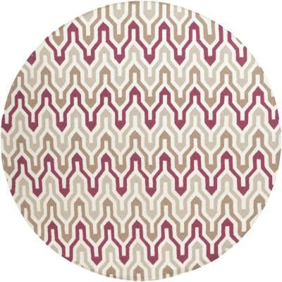 Fallon Burgundy 8 ft. x 8 ft. Round Indoor Area Rug