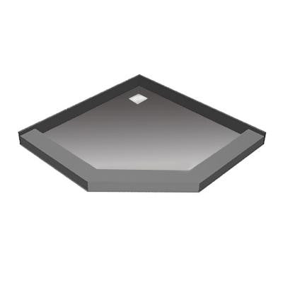 50 in. x 50 in. Neo-Angle Shower Base with Back Drain