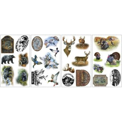 5 in. x 11.5 in. Wildlife Medley Peel and Stick Wall Decal