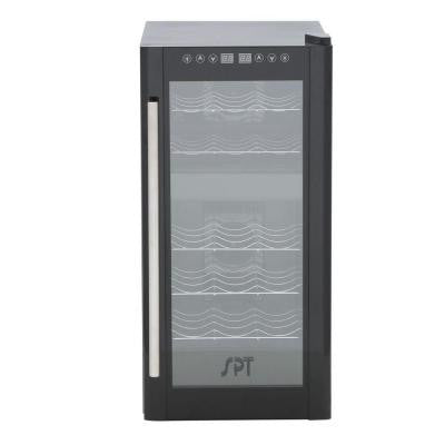 13-1/2 in. 18-Bottle Thermoelectric Wine Cooler with Dual Zone and Heating